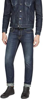 Replay Mens Dark Blue Jean - Anbass [Slim Fit Denim Jeans] W34/L30