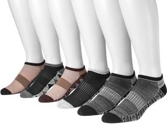 Muk Luks Men's 6 Pair Pack No Show CompressionArch Socks