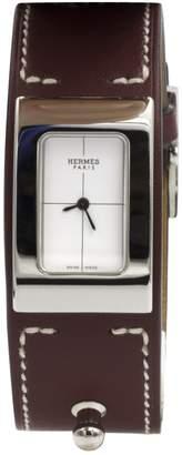 Hermes Burgundy Steel Watches