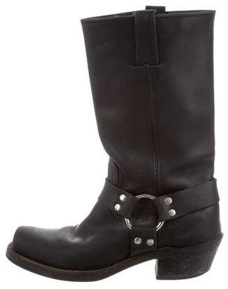Frye Distressed Leather Square-Toe Boots