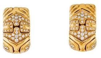 Bvlgari 18K Diamond Alveare Earrings