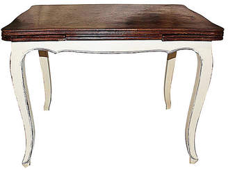One Kings Lane Vintage Petite Antique French Draw-Leaf Table - House of Charm Antiques