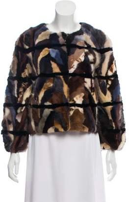 Zadig & Voltaire Patchwork Mink Coat