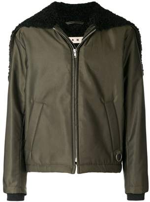 Marni caped bomber jacket