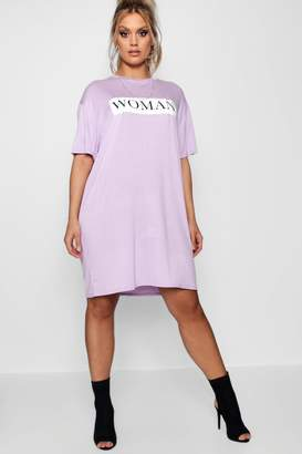 boohoo Plus Woman Oversized T Shirt Dress