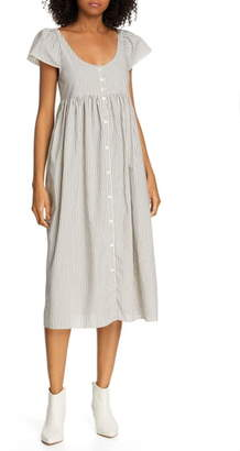 The Great Flutter Cami Stripe Midi Dress