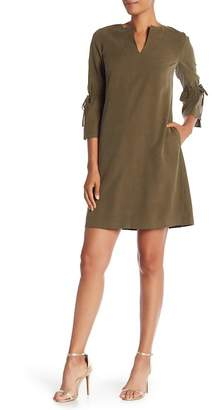 Lafayette 148 New York Deandra 3\u002F4 Sleeve Tie Dress