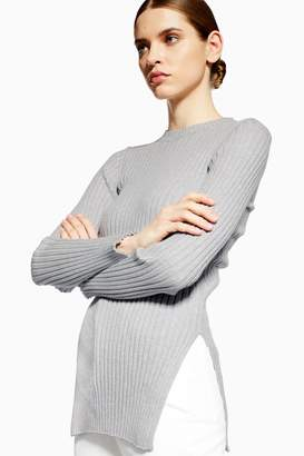 Topshop Ribbed Knitted Jumper with Cashmere by Boutique
