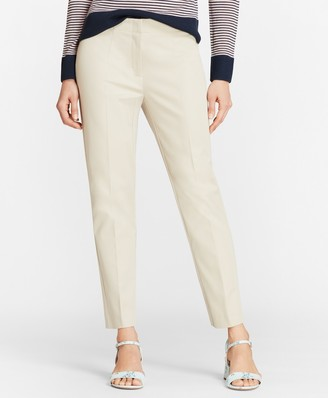 Brooks Brothers Stretch-Cotton Twill Straight-Leg Pants