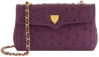 Lana Marks Small Ostrich Chain Bag