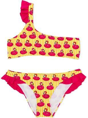 MC2 Saint Barth Kids TEEN flamingo print bikini