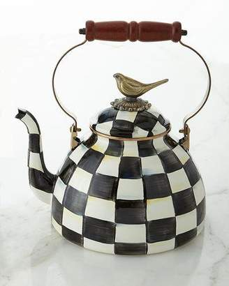 Mackenzie Childs MacKenzie-Childs Courtly Check 3-Quart Tea Kettle with Bird