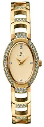 Accurist Women's Quartz Watch with Beige Dial Analogue Display and Gold Bracelet 8036.01