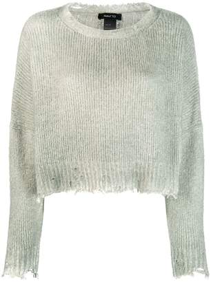 Avant Toi raw hem knitted jumper