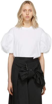 Simone Rocha White Tulle Puff Sleeve T-Shirt