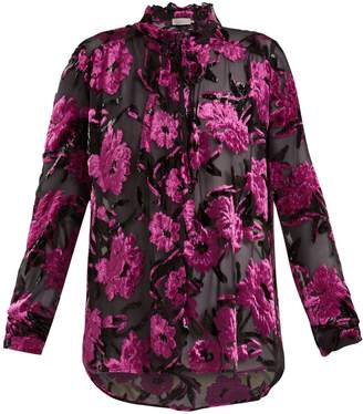 Preen by Thornton Bregazzi Emiline floral-devoré blouse