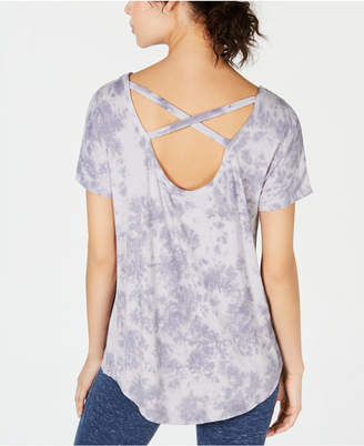 Ideology Tie-Dyed Strappy-Back High-Low Hem T-Shirt