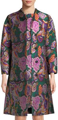 Etro Cabbage-Rose Jacquard Topper Coat