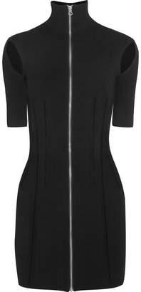 McQ Stretch-knit Turtleneck Mini Dress - Black