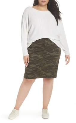 Caslon Horizontal Pullover Sweater (Plus Size)