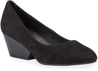 Eileen Fisher Dory Cutout-Wedge Suede Pumps