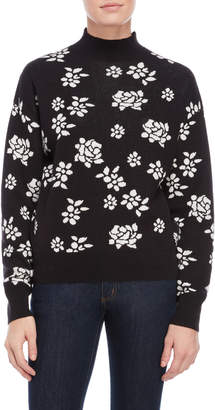 Juicy Couture Floral Mock Neck Sweater