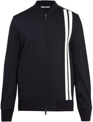 Valentino Logo-print striped-detail jersey track jacket