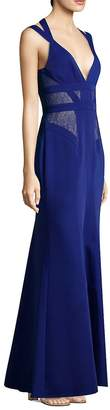 BCBGMAXAZRIA Women's Sleeveless Lace Gown