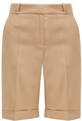 Pallas X Claire Thomson Jonville X Claire Thomson-jonville - Tailored Wool Faille Shorts - Womens - Beige