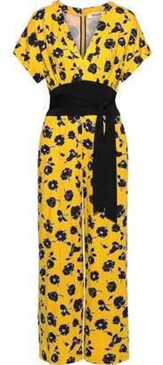 Diane von Furstenberg Evangeline Wrap-effect Silk-jersey Jumpsuit