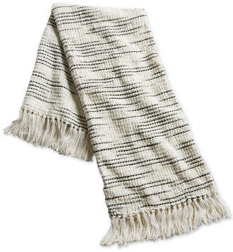 "Sunham Oxford Collection 50"" x 60"" Modern Stripe Throw, Created for Macy's"