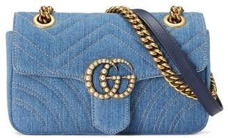 Gucci (グッチ) - Gucci GGマーモント デニム ショルダーバッグ