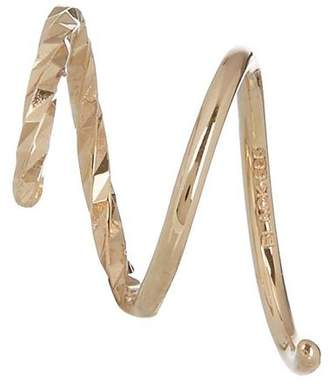 Black Diamond Maria Cut Twirl Earring
