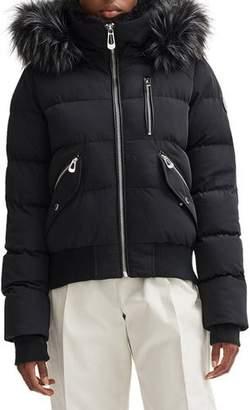 Noize Faux Fur-Trim Bomber Puffer Coat