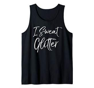 Funny Workout Gift for Women Ladies Cute I Sweat Glitter Tank Top