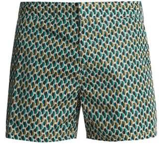 Prada Geometric Print Swim Shorts - Mens - Beige Multi