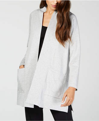 Eileen Fisher Tencel Open Patch-Pocket Long Cardigan