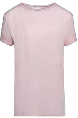 Helmut Lang Frayed Cotton And Cashmere-Blend Jersey T-Shirt
