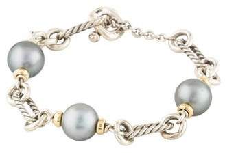 David Yurman Pearl Figaro Chain Bracelet
