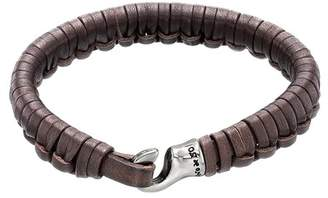 Uno de 50 Hook Plaited Leather Bracelet
