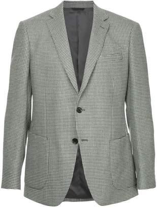 Durban D'urban micro gingham formal blazer