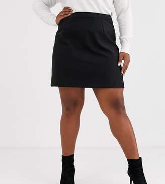 Asos DESIGN Curve tailored a-line mini skirt