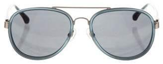 Dries Van Noten x Linda Farrow Tinted Aviator Sunglasses
