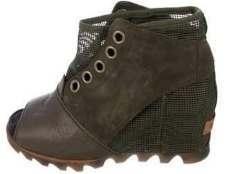 Sorel Suede Wedge Boots
