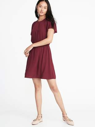 Old Navy Waist-Defined Smocked-Yoke Dress for Women