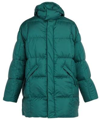 Prada Quilted Down Filled Padded Jacket - Mens - Green