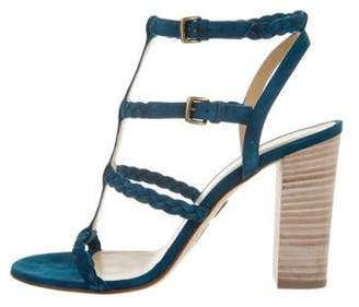 Ritch Erani NYFC Woven Suede Sandals w/ Tags