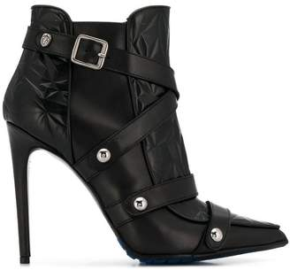Frankie Morello buckle detail boots