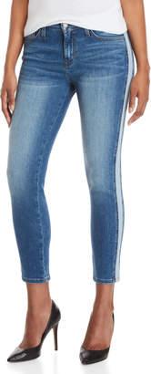 Flying Monkey Mid-Rise Stripe Skinny Jeans