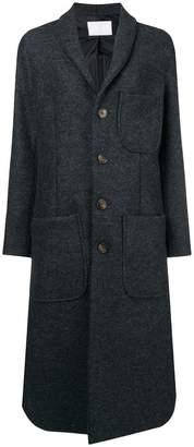 Societe Anonyme curved-hem coat
